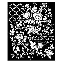 Stamperia Thick stencil cm. 20x25/0.5 mm Floral Fantasy