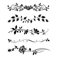 Stamperia Thick stencil 20x25 cm Bordure rose