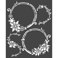Stamperia Thick stencil cm. 20X25 Garlands