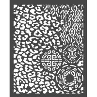 Stamperia Thick Stencil 20x25 cm - Amazonia animalier with tribals