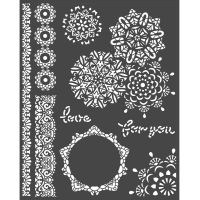Stamperia Thick Stencil 20x25 cm - Passion laces