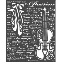 Stamperia Thick Stencil 20x25 cm - Passion violin
