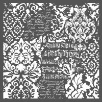 Stamperia Thick Stencil cm. 30x30 Wallpaper Fantasy