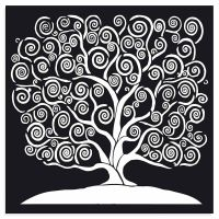 Stamperia Thick Stencil cm 30x30 Tree of life
