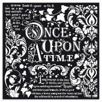 Stamperia Thick Stencil cm 30x30 Once upon a time