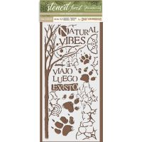 Stamperia Thick Stencil cm. 12X25 Forest paw