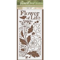 Stamperia Thick Stencil cm. 12X25 Flower of life