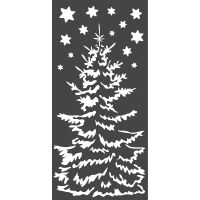 Stamperia Thick stencil cm. 12X25 Christmas tree