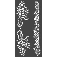 Stamperia Thick stencil cm. 12X25 Christmas borders