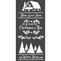 Stamperia Thick stencil cm. 12X25 Winter magic