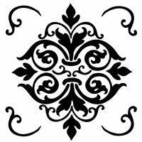 Stamperia Thick stencil 18x18 cm Decor