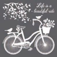 Stamperia Thick stencil 18x18 cm - Bicycle