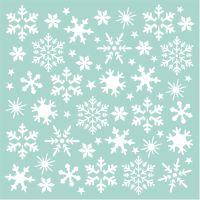 Stamperia Thick Stencil cm. 18x18 Snowflakes
