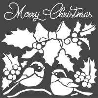Stamperia Thick stencil cm. 18X18 Merry Christmas