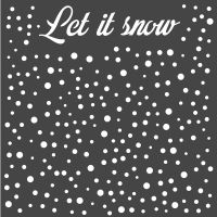 Stamperia Thick stencil cm. 18X18 Let''s snow