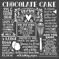 Stamperia Thick stencil cm. 18X18  Chocolate cake