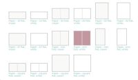 Lifestyle Crafts Letterpress Paper - Mini Fold, 25 sheets - White
