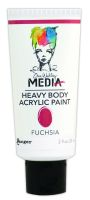 Ranger Dina Wakley Media Heavy Body Acrylic Paints - Fucshia