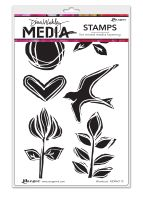 Ranger Dina Wakley Media Cling Stamps 6
