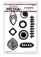 Ranger Dina Wakley Media Cling Stamps - Funky Journal Shapes
