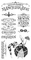 Graphic 45 Midnight Masquerade Cling Stamp 1
