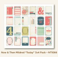 My Minds Eye Now & Then - Mildred - Today 3x4 Journaling Cards