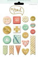 My Minds Eye On Trend - Sweet Gold Foiled Chipboard Buttons