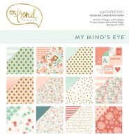 My Minds Eye On Trend - On Trend 6x6 Gold Foiled Paper Pad