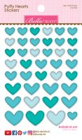 Bella Blvd Puffy Hearts Stickers - Ice Mix