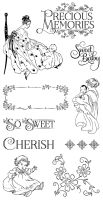 Graphic 45 Precious Memories 1 Cling Stamp Set