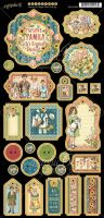 Graphic 45 Penny''s Paper Doll Family Chipboard