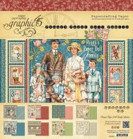 Graphic 45 Penny''s Paper Doll Family 12x12 Pad