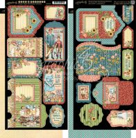 Graphic 45 Penny''s Paper Doll Family Tags & Pockets