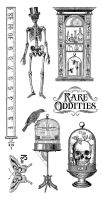 Graphic 45 Rare Oddities 1 Cling Stamp Set