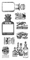 Graphic 45 Rare Oddities 3 Cling Stamp Set
