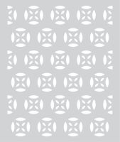 Basic Grey Prism Hero Arts - Stencil - Medallion Patterned Stencil
