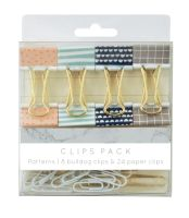 KaiserCraft Planner Clips Pack - Patterns