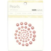 KaiserCraft Self-Adhesive Pearls 50/Pkg - Rose