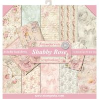 Stamperia 12x12 Paper Pad - Shabby Rose (10 Double Sided Sheets)
