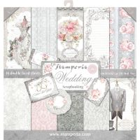 Stamperia 12x12 Paper Pad - Wedding (10 Double Sided Sheets)