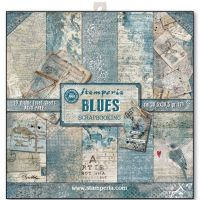 Stamperia 12x12 Paper Pad - Blues (10 Double Sided Sheets)