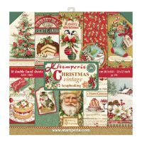 Stamperia 12x12 Paper Pad - Christmas Vintage (10 Double Sided Sheets)