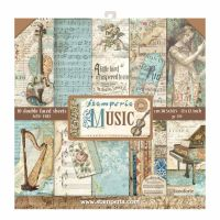 Stamperia 12x12 Paper Pad - Music (10 Double Sided Sheets)