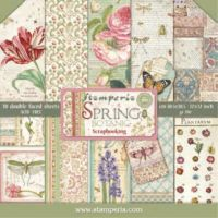 Stamperia 12x12 Paper Pad - Spring Botanic (10 Double Sided Sheets)