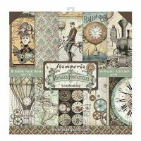 Stamperia 12x12 Paper Pad - Voyages Fantastiques (10 Double Sided Sheets)