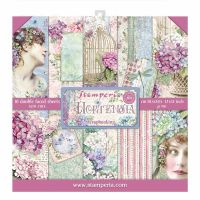 Stamperia 12x12 Paper Pad - Hortensia (10 Double Sided Sheets)