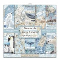 Stamperia 12x12 Paper Pad - Arctic Antarctic (10 Double Sided Sheets)