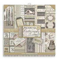 Stamperia Scrapbooking Pad 10 sheets cm 30,5x30,5 Calligraphy