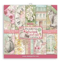 Stamperia Scrapbooking Pad 10 sheets cm 30,5x30,5 Orchids and Cats