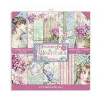 Stamperia 8x8 Paper Pad - Hortensia (10 Double Sided Sheets)